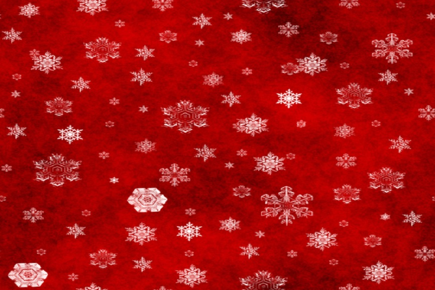 Christmas red with snowflakes