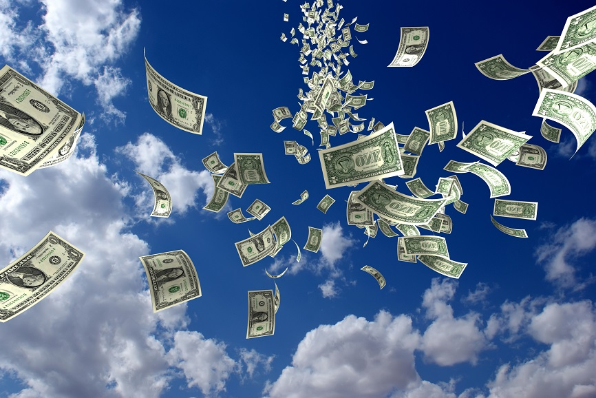 Money in sky