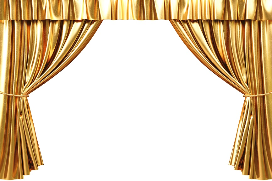 curtain gold